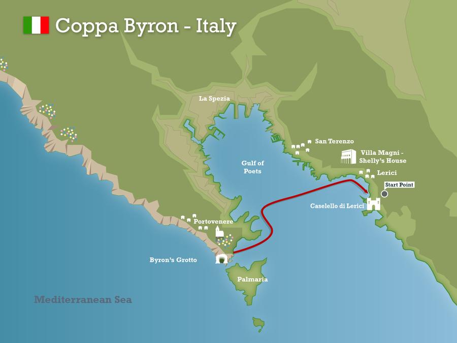 Lerici Italy Map.Swimming Holidays Coppa Byron Italy Swimtrek