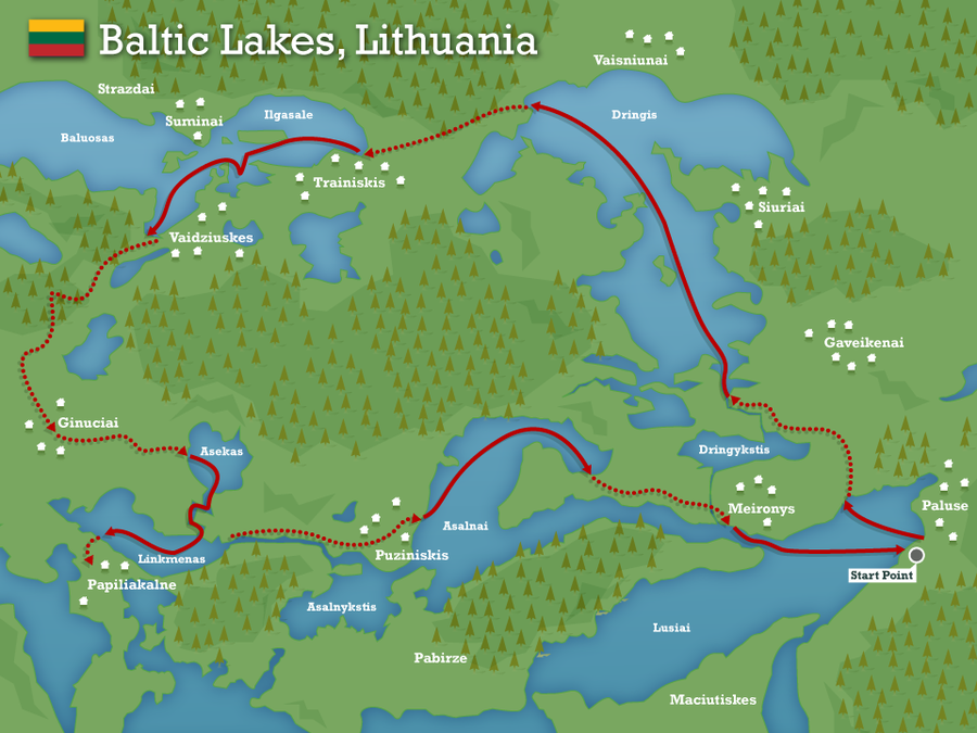 Baltic lakes lithuania