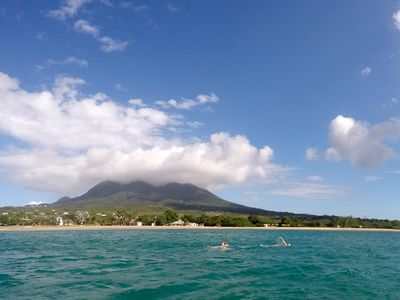Swimming along the nevis coastline