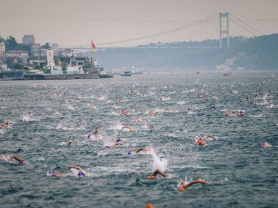 Swimtrek swimming holidays turkey bosphorus swim city shot