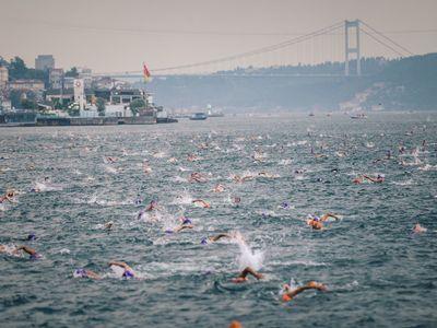 Swimtrek swimming holidays turkey bosphorus swim city shot