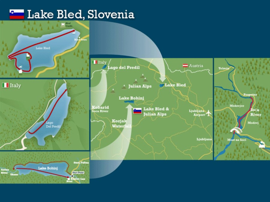 Lake bled and the slovenian alps