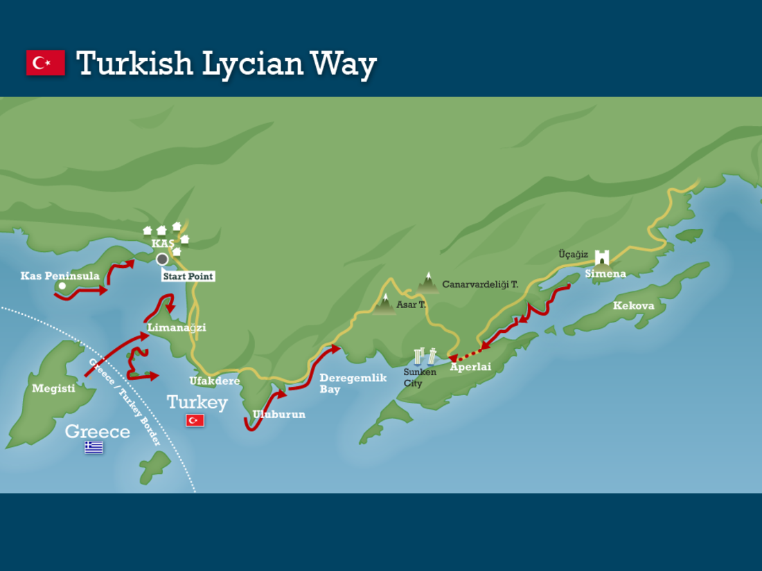 Lycian way turkey