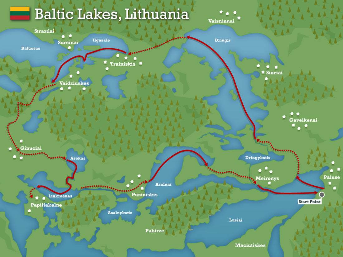 Baltic lakes lithuania