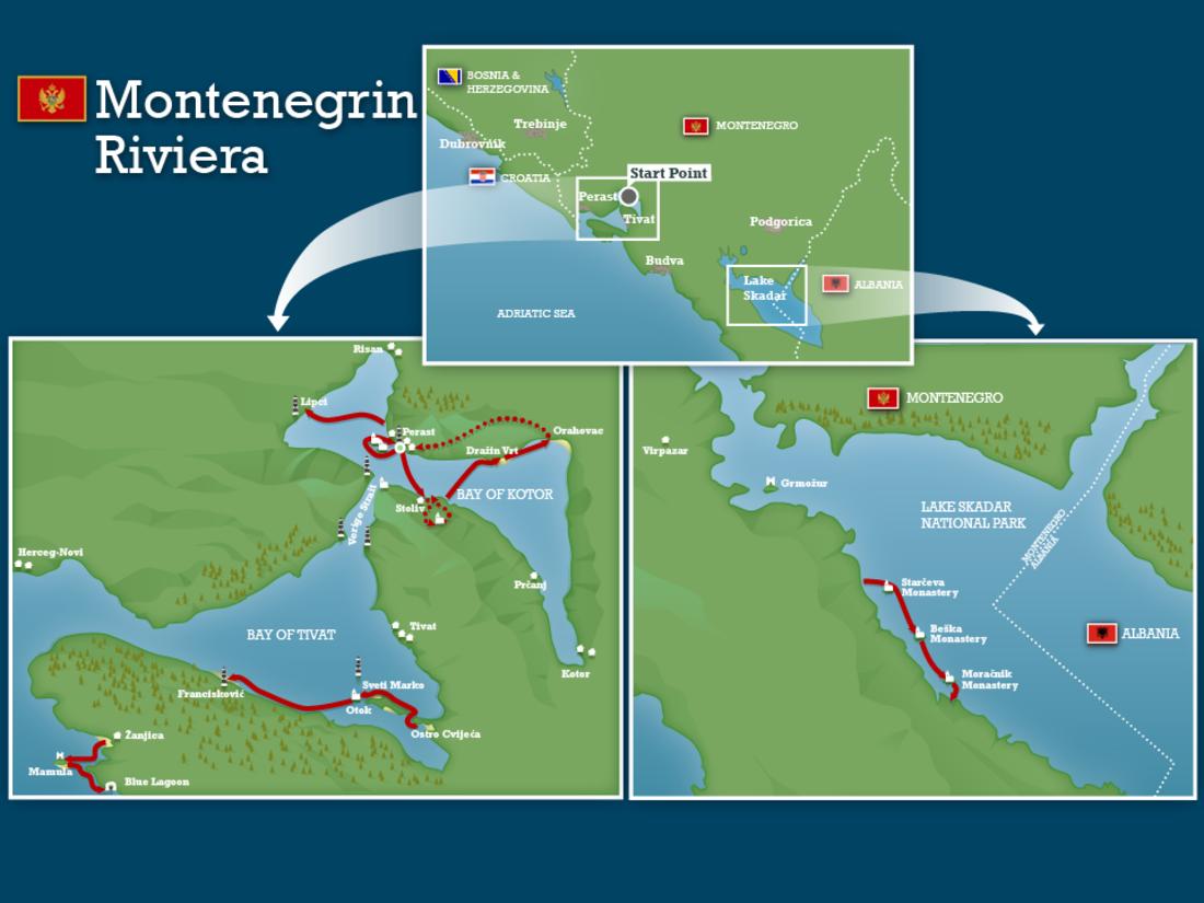 Montenegro fjords