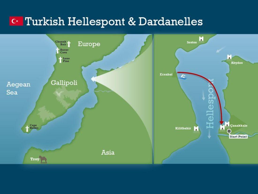 Hellespont and dardanelles swim