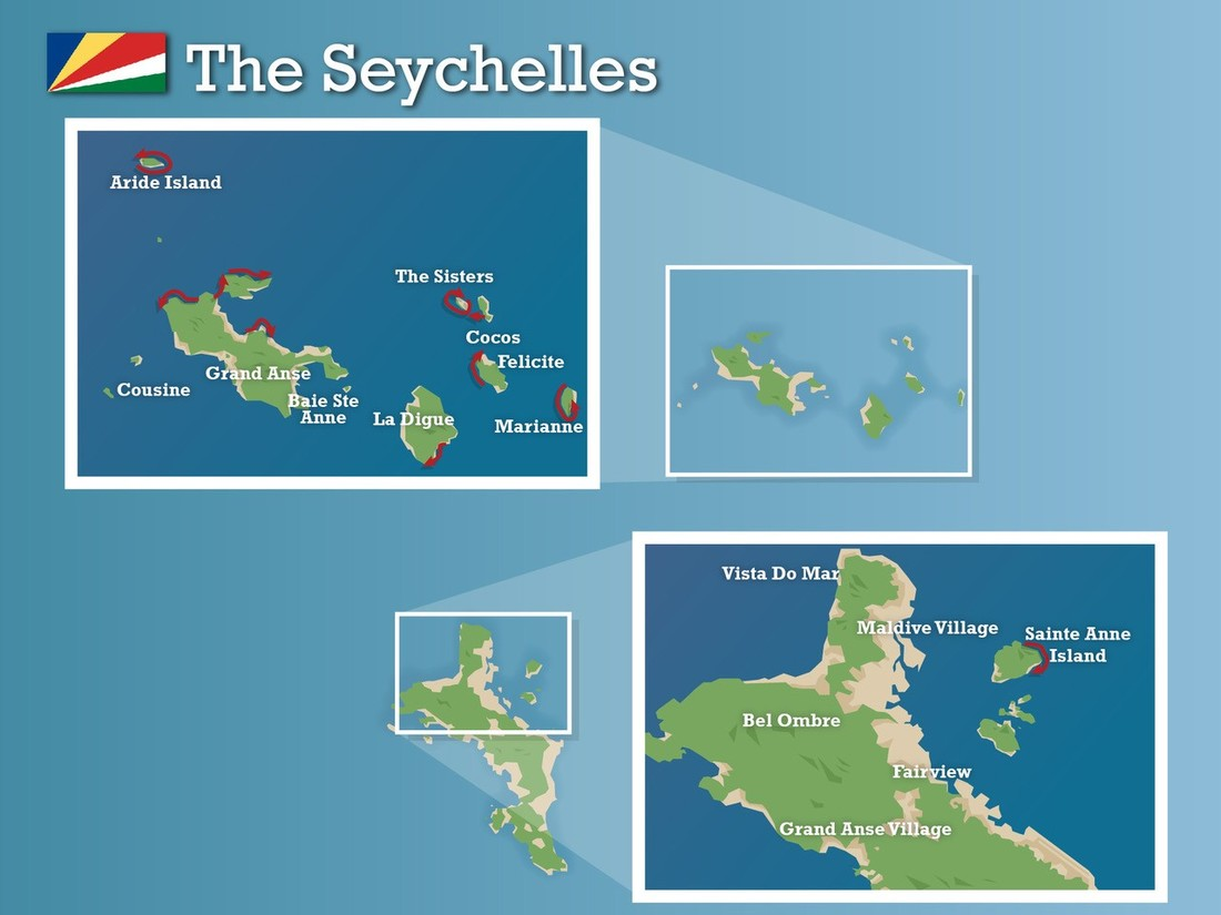 The seychelles map