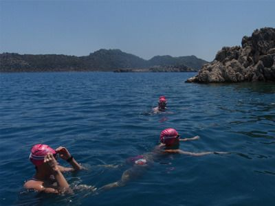 Lycian way short swims turkey