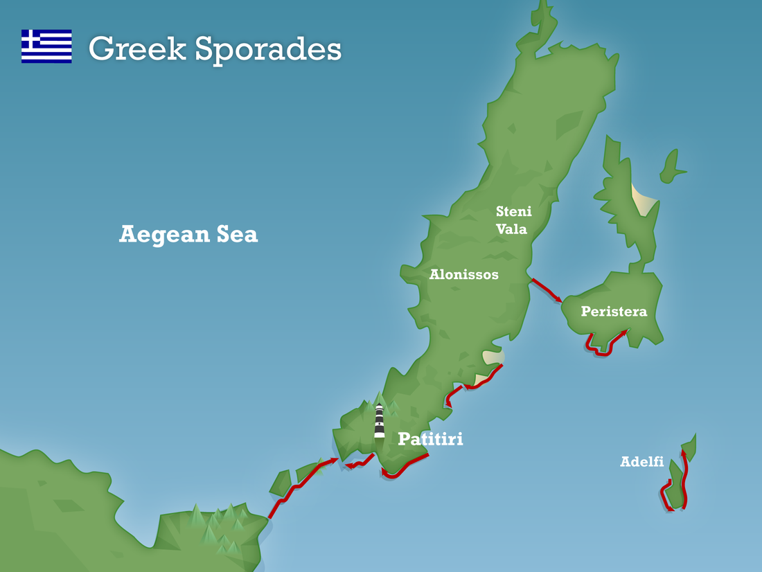 Greek sporades map 2020