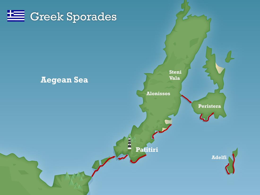 Greek sporades map 2020