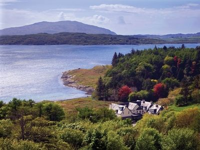 Loch melfort hotel and view
