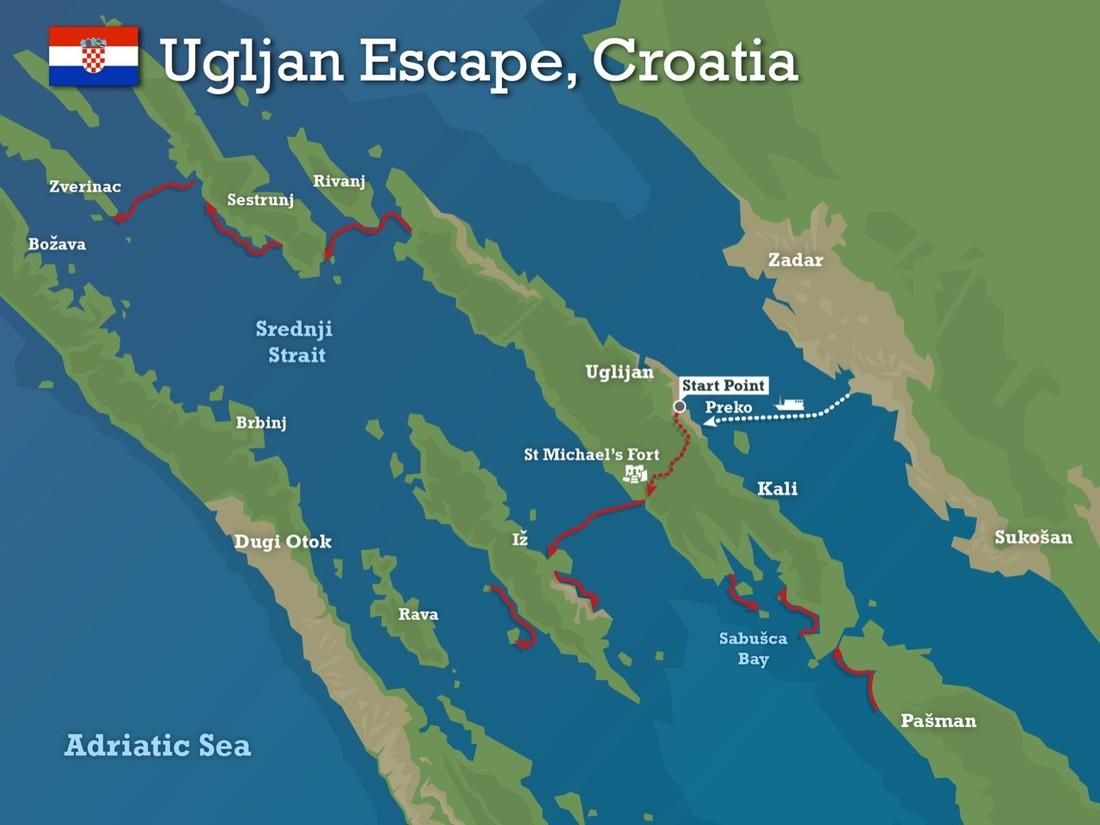 Croatia Escape map