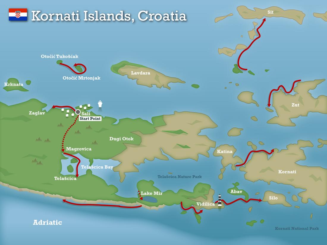kornati islands map