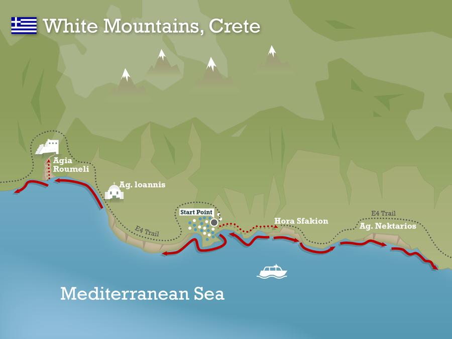 White mountains crete