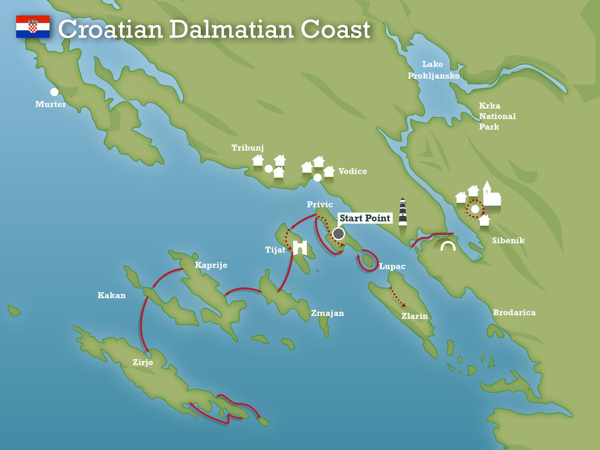 Dalmatian coast croatia