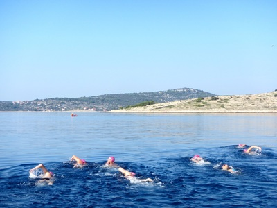 Kornati islands long swims croatia small